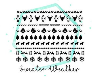 Christmas Sweater Vinyl Nail Sticker