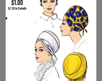 Vogue Millinery Designer Adolfo Turban Fabric material sewing pattern #7461 Copy