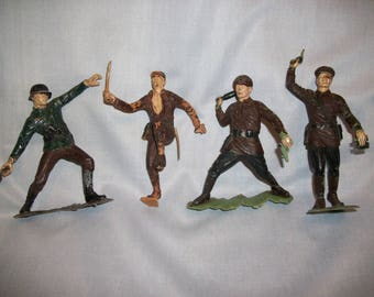 Marx Toy WWII Soldiers Set of Four 1953