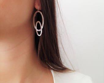 925 Silver Earrings, 925 Dangle Earrings, Geometric Earrings, Woman's Dangle Earrings, Unique Earrings, Elegant Earrings, Statement Earrings