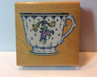 China Tea Cup Rubber Stamp from Stampendous