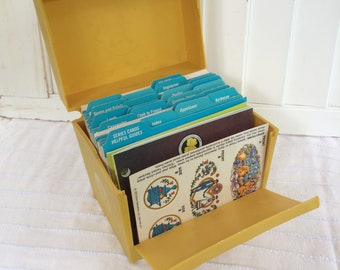 Vintage Recipe Box and Card Collection
