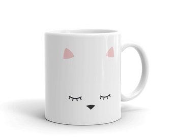 cat mug, cat cup, mug with kitten, kitten on cup