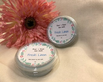 Wax melt pot , Soy wax 2oz melt pot , Fresh Linen , uk , Natural wax