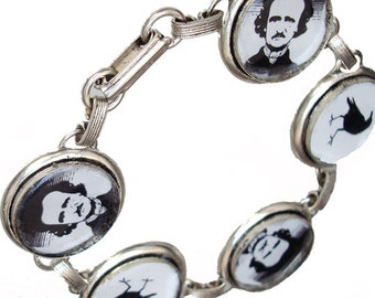 The Following bracelet with Poe and the Raven