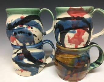 16oz Splatter Design mug