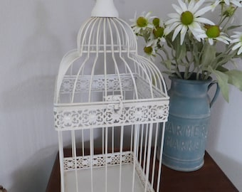 Incroyable Creamy Antique White Bird Cage ~ Weddings Event Card Holder ~ Urban  Farmhouse Modern Vintage Home