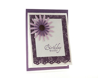 Gift Card Holder - Happy Birthday Card - Gift Card Card - Card Money Holder - Floral Card - Birthday Wishes - Blank Greeting Card