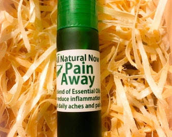 Pain Away Essential Oil Blend/100% Pure & Therapeutic Essential Oils/Roll-On/Reduce Inflammation/Daily Aches