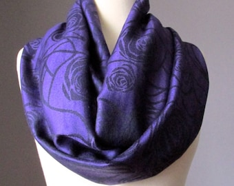 Purple Infinity Scarf, Aubergine Scarf, Plum Scarf, Purple Scarf, Circle Scarf, Womens Scarf, Fall Scarf, Gift for Her Wife Gift, Mom Gift