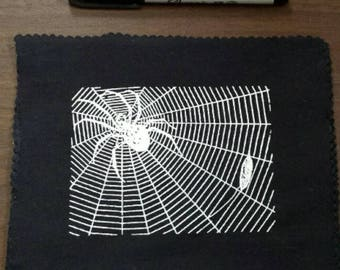 Screen Print Patch: Spider With Prey