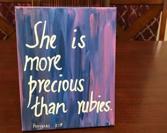 She is more precious than rubies