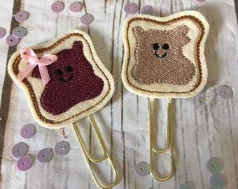 Peanut Butter & Jelly Planner Paperclip, Planner Accessories, Planner Clips, Food Planner Supplies, Happy Planner, Kikki K, Filofax