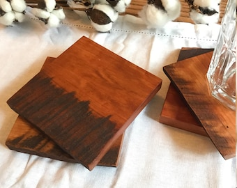 Reclaimed Cherry Coaster Set