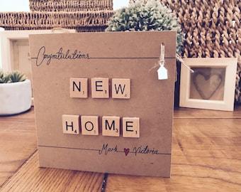 Personalised Handmade New Home Card.