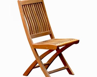 B grade teak folding chair