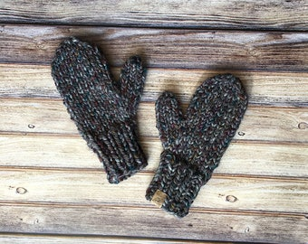 Knit Mittens // Abalone // Womens Accessories // Chunky Knits