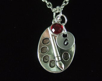 Artist Gift, Art Teacher Gift,  Artist Keychain, Personalized Artist Necklace, Art Jewelry, Art Necklace, Art Party Favor