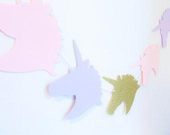 Unicorn Banner, Unicorn Party Decor, Unicorn Birthday Party, Pastel Unicorn Banner, Unicorn Backdrop, Unicorn Photo Prop, Gold Unicorns