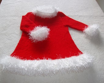 Christmas baby dress 3 or 6 months (collection cassie)