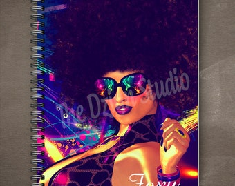 Foxy Cleopatra Journal   Wire Bound   spiral journal   writing journal   custom journal   school supplies   gift for book lovers   diary
