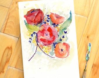 Original Watercolor Painting, Landscape, Fine Art, Floral, Modern Art, Ink, Minimalist, Garden Floral, Abstract Art, Bohemian