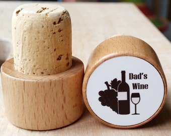 Dad's Wine - Wine Bottle Stopper