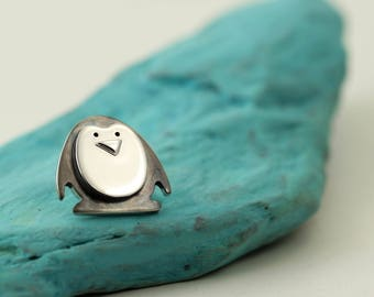 Sterling Silver Penguin Pin - Penguin Gifts