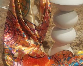 Elegant Silk Texture Vintage Style Scarf