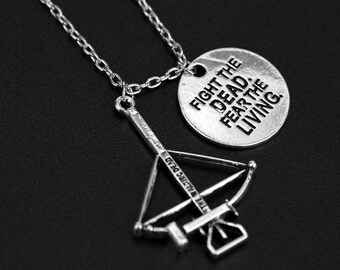 The Walking Dead Silver Chain Charm Necklace