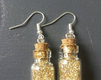 Earrings mother and glitter