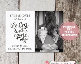 Save the Date Printed or Printable, Rustic Save the Date, Save the Date Photo Invitation, Engagement Announcement Wedding Save the Date Card