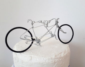 Wire Tandem Bicycle. Bicycle for two. Vintage Tandem Bicycle, Wedding Cake Topper