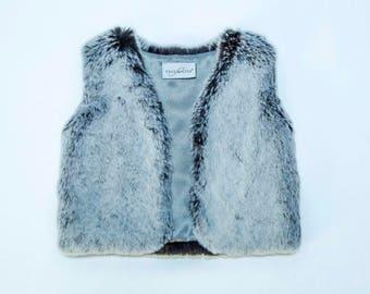 Kid's Tissavel Faux Fur Vest