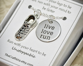 Track and Field Necklace - TF1 - Cleats Shoes Charm - Marathon Necklace - Running Shoes Charm - Jogging -Running Necklace- Marathon Necklace
