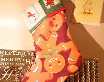 Cute Gingerbread Man Stocking