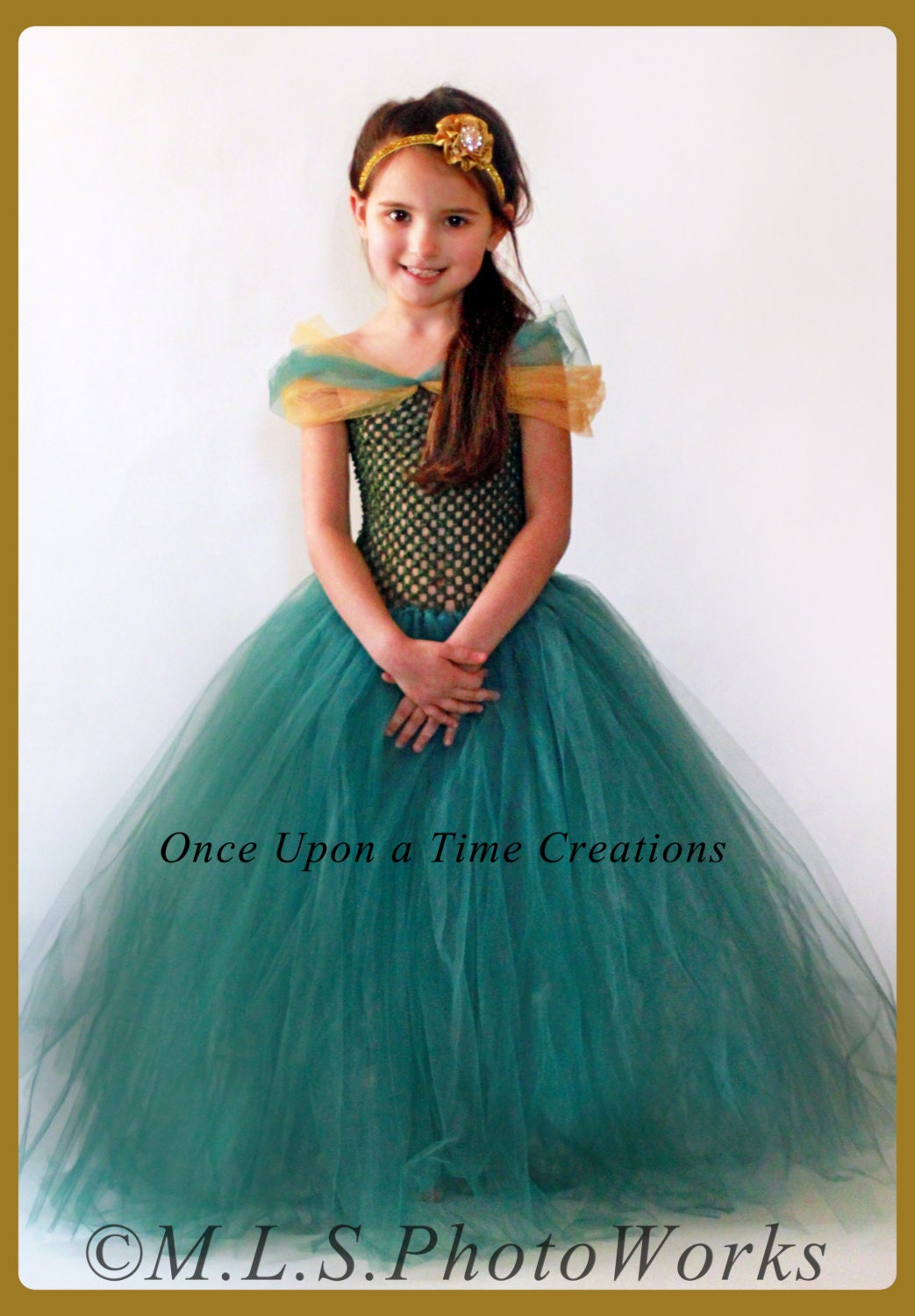 Forest Princess Tutu Dress Queen Kids Halloween Costume
