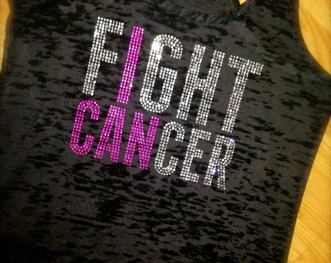 Breast Cancer Awareness Burnout Tank Top. Ladies Breast Cancer T-shirt. Fight Cancer Tank Top. Ladies Burnout Tank Top. Breast Cancer Shirt