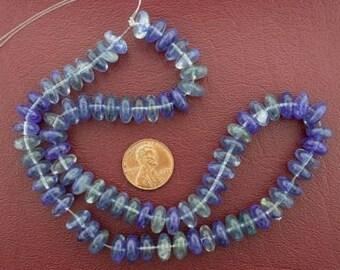 rondelle gemstone blueberry quartz beads