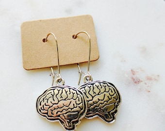 Brain Earrings