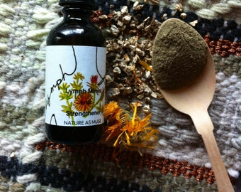 Lymph Flow Massage Oil- Calendula, Burdock, Cleavers, Juniper Berry