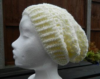 Slouchy, Beanie Hat In Cream