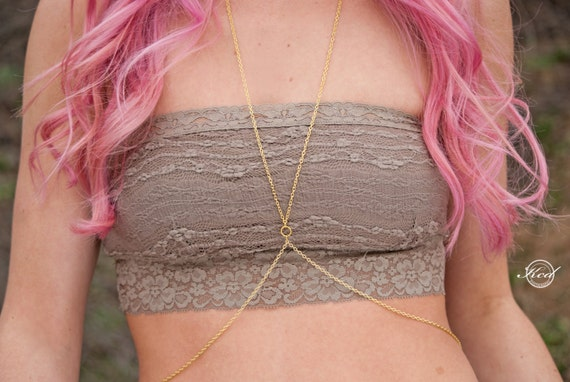 Body chain. Simple gold body chain. Simple silver body chain.