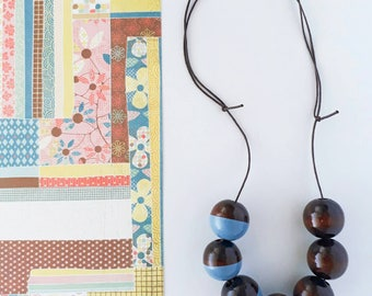 Hand Painted Beads on Adjustable Cord