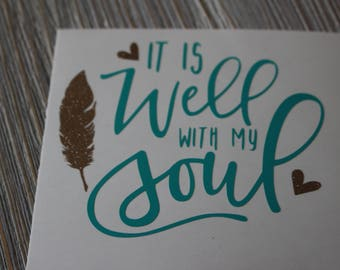 It Is Well With My Soul Decal - Yeti Decal - Decal Yeti - Monogram Yeti Decal - Religious Car Decal - Christian Decal - Monogram Decal