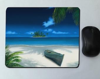 mouse pads, landscape sea (photo to choose) 23 x 19 cm, customizable