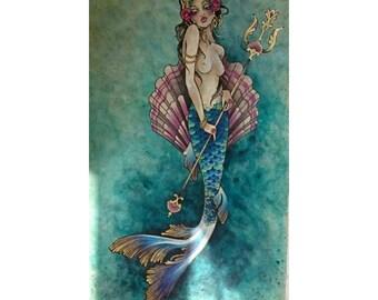 A3 print: Beautiful mermaid
