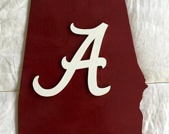 Alabama Crimson Tide state plaque