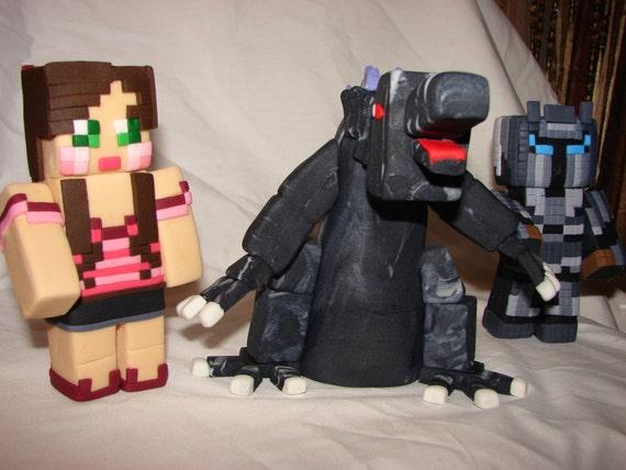 3D Jen Mobzilla and Pat Minecraft