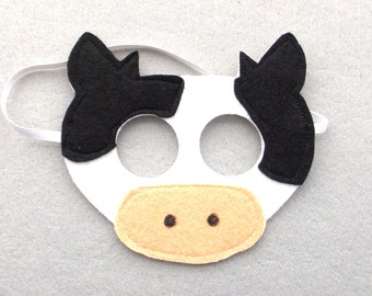 Cow Mask - Play Mask - Kid's Mask - Cow - Mask - Dress Up - Play - Party Favor - Toddler Gift - Costume - Play Dress Up - Halloween - Farm